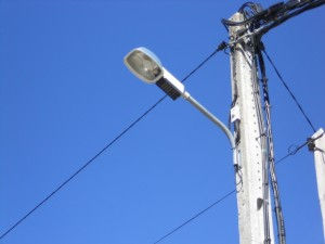 luminaria obsoleta y de baja eficiencia